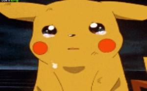 可爱QQ表情:皮卡丘流泪动态图片