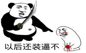 打人QQ表情:以后还装B吗