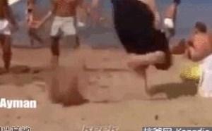 海浪沙滩搞笑图片大全