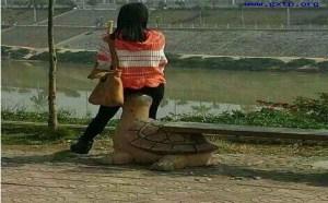 美女坐在龟头上邪恶内涵图片