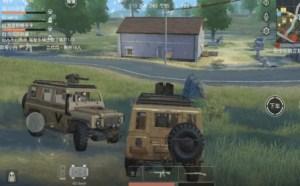 手游荒野行动搞笑:开车吃鸡会旋转的车